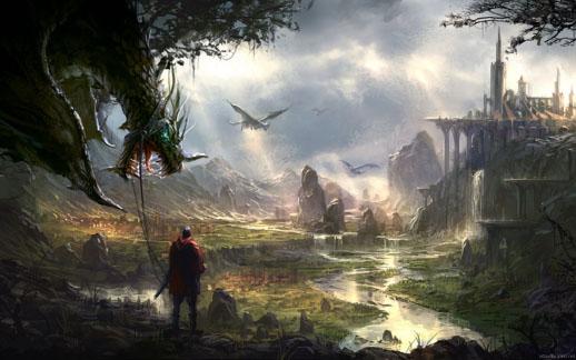 Genesi di un genere letterario il fantasy for Paesaggi fantasy immagini
