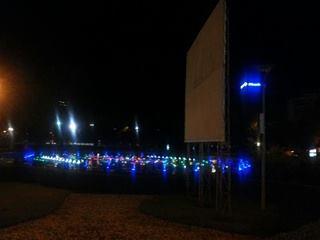 Fontana illuminata, Centro di Tirana