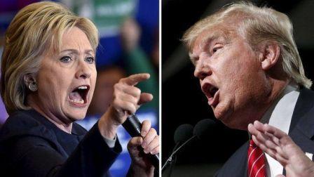 Donald Trump e Hillary Clinton: l'inquietante e la muffa