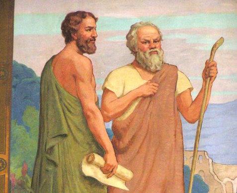 Dialogo referendario tra Socrate e Protagora