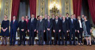Poletti con l'intero Governo Gentiloni