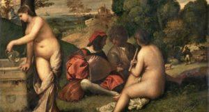 Tiziano, Concerto campestre, 1510, Louvre, Parigi