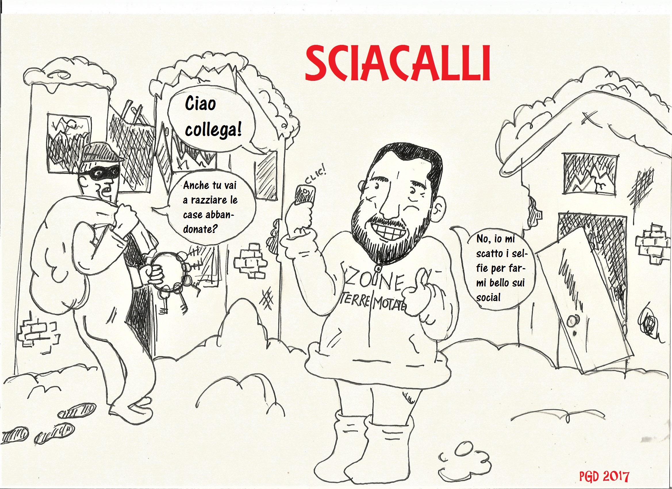 Sciacalli, ovvero: Salvini e i suoi selfie