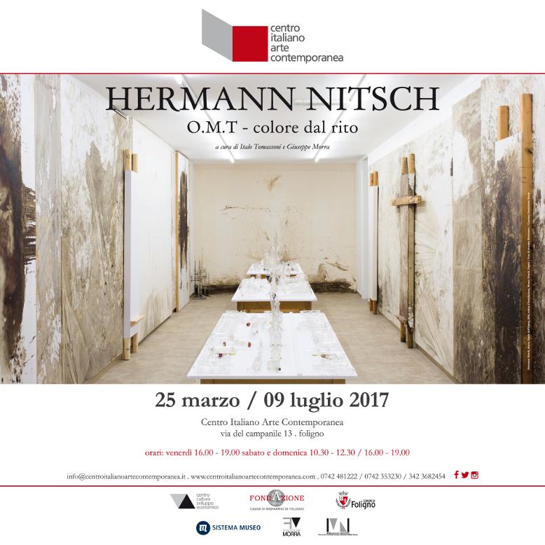 L'universo simbolico e rituale di Hermann Nitsch in mostra al CIAC di Foligno