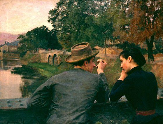 L'amore è dialogo, preludio di una relazione stabile che cresce mentre si consuma, come ci suggerisce il dipinto di Friant 'Les Amoureux'
