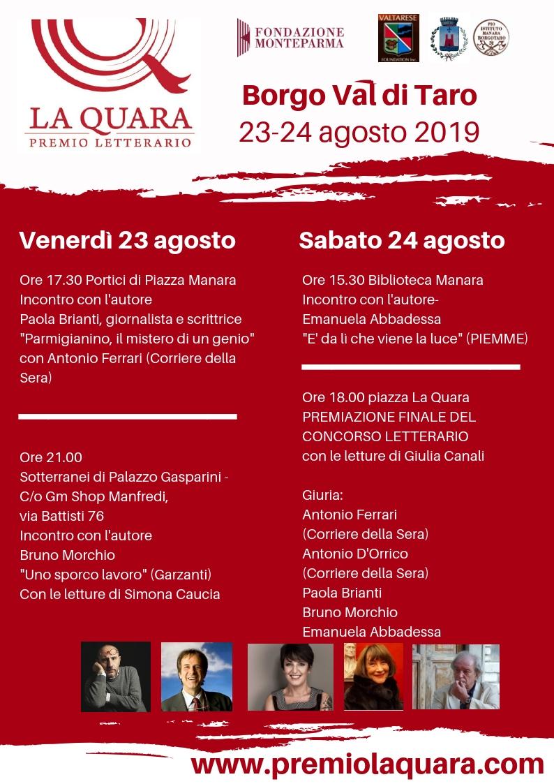 Premio La Quara: al via l'edizione 2019