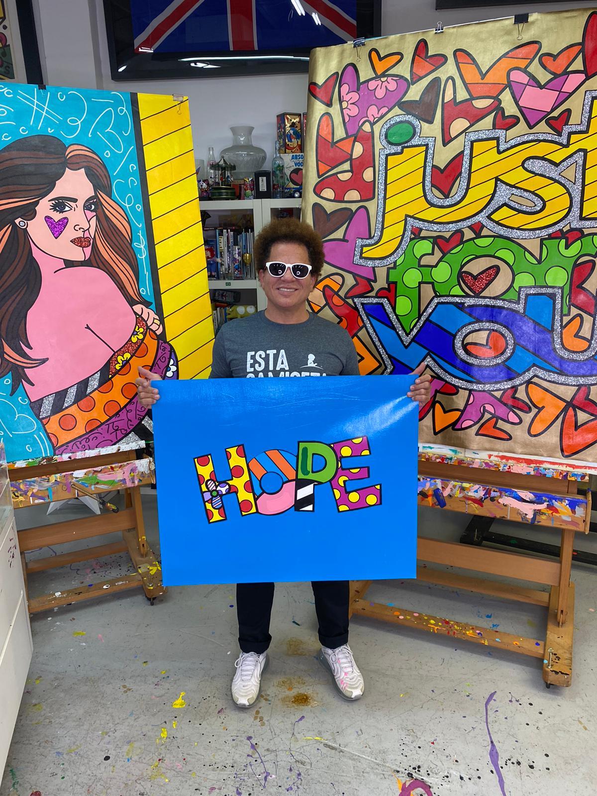 L'art star Romero Britto: la visione delle cose tra serialità e ottimismo