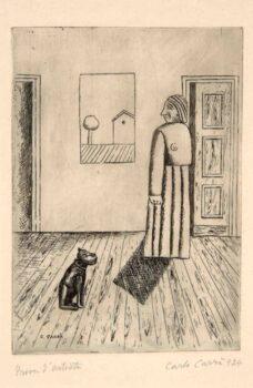 Carlo Carrà La casa dell'amore II o Interno o La massaia 1924
